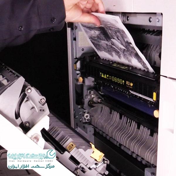 گیر کردن کاغذ در دستگاه کپی شارپ